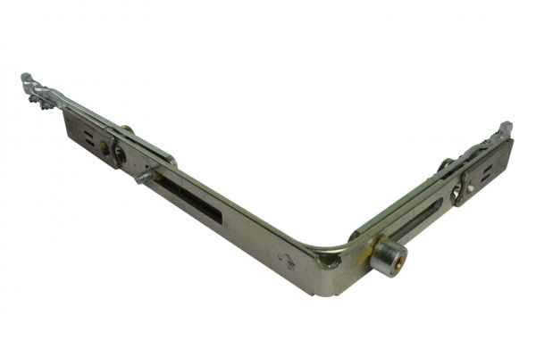 SIEGENIA Eckumlenkung VS mit Rollen 155x120mm, 1 Rollzapfen u. Spaltlüfter, AEUS0120-10060SP 1RS