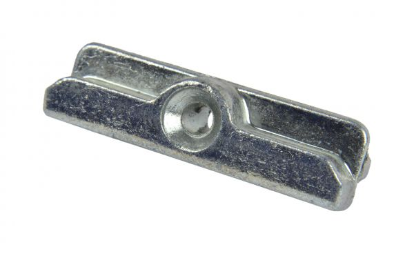 SCHÜRING Schließstück Nr. 29, f. Kunststoff-Fe., 4mm Nut, L/T=45/12mm, Schließba. 7mm