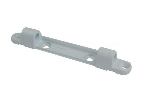Siegenia Scherenlager 0074, weiß, für Holz- / Kunststoff-Fenster, L=108mm, Bolzenabstand 64mm