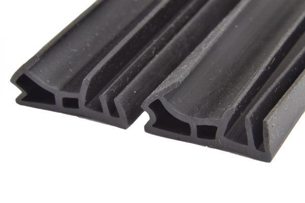 Dichtungsmuster-Set für Holzfenster, Überkopfdichtung, 1 Stck. 4mm Nut, 12mm Kopf, 9,5mm Kopfbreite + 1 Stck. 5mm Nut, 12mm Kopf, 9,5mm Kopfbreite