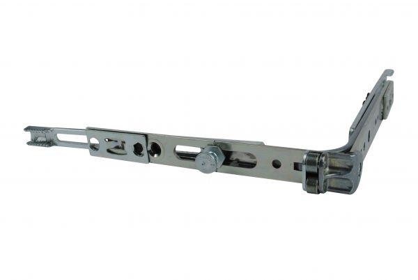 SIEGENIA Eckumlenkung VS mit Rollen 140x140 mm, 1 Pilzzapfen