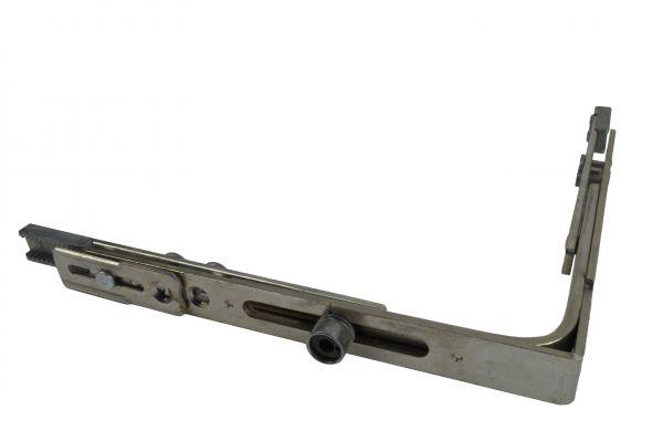 SCHÜRING Eckumlenkung Nr. 18, f. Kunststoff-Fe. mit 1 Rundbolz., gleichschenk., 149x149mm