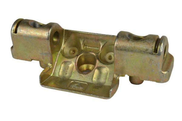 ROTO Scherenlager Nr. 6596564400, für Li./Re., 2 Bo., Lä. 72mm, L.wi. z.maß 28mm, mit Bo.stift, für Holz 12/18