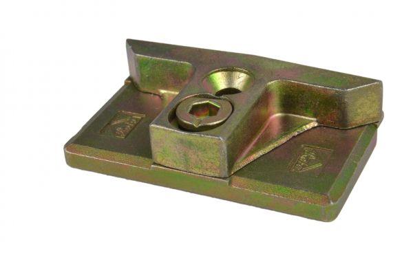ROTO Schließstück 6482392800, für Holz- / Kunststoff-Fe., gelb verzinkt, links / rechts verwendbar