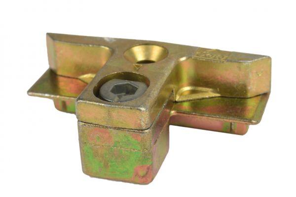 ROTO Schließstück 6482516400, für Kunststoff-Fenster, gelb verzinkt, links und rechts verwendbar