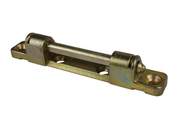 ROTO Scherenlager Nr. 6596560700, für Li./Re., 2 Bo., Lä. 93mm, Le.wi. z.maß 40mm, gelb verzinkt, mit Bo. stift