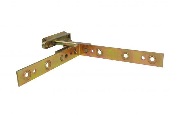 Siegenia Falzeckband, mit einem Bolzen, DIN R, gleichschenklig, 122x122mm, generalüberholt