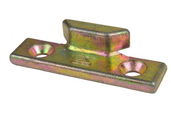 ROTO Schließstück 6482355500, für Holz- / Kunststoff-Fe., generalüberholt, gelb verzinkt, links / rechts verwendbar