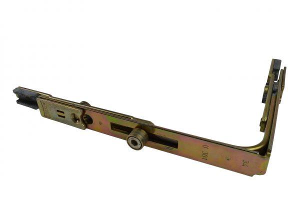 AUBI Eckumlenkung U301, für Holz- / Kunststoff-Fe., generalüberholt, Schenkellä. 152x117mm, mit Bolzen lange Seite