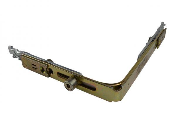 AUBI Eckumlenkung UM311, f. Holz- / Kunstst.-Fe., Schenkellä. 153x117mm, mit Bolzen kurze Seite